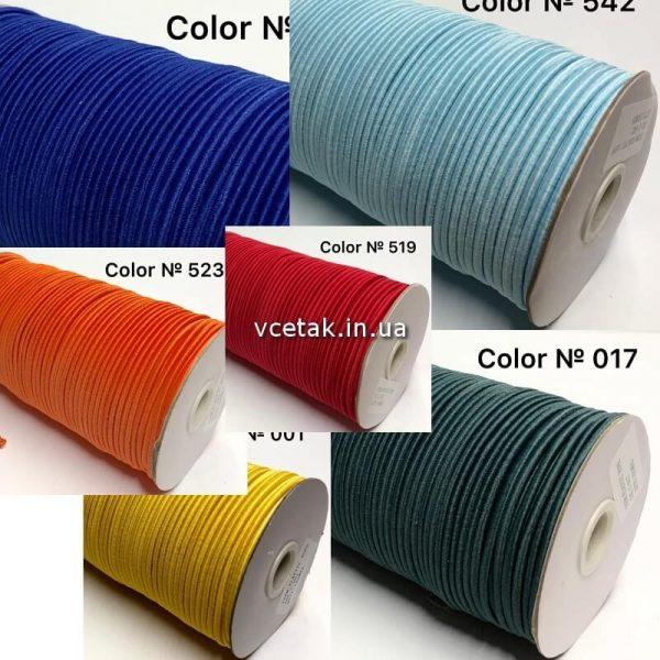 Резинка шнур кольорова