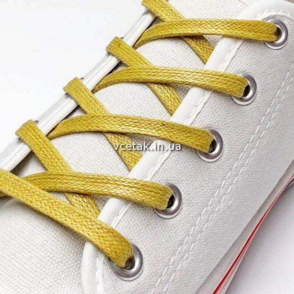 шнурки плоские вощеные